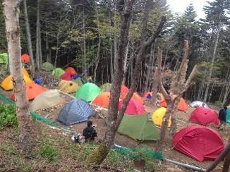 こぶしこやテント場