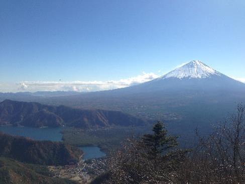 王岳から富士山