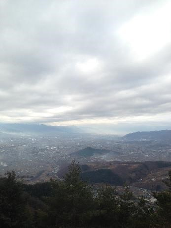 小倉山頂上からの風景