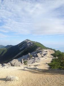 薬師岳稜線
