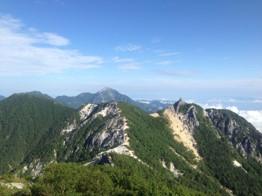 地蔵岳を望む