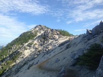 観音岳稜線